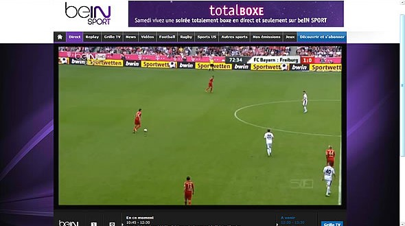 Bein sport live player