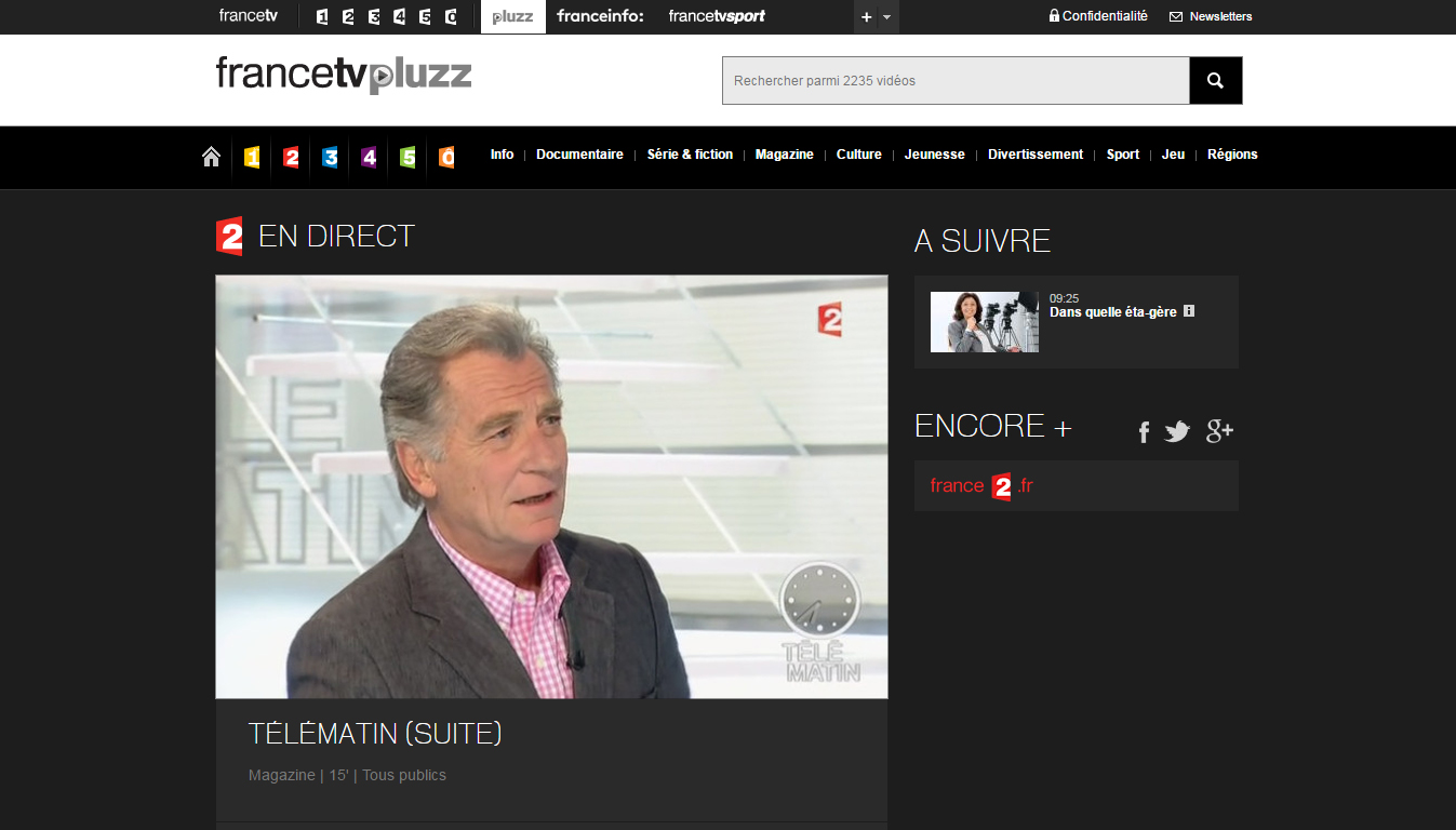 France 2 direct sur Pluzz TV