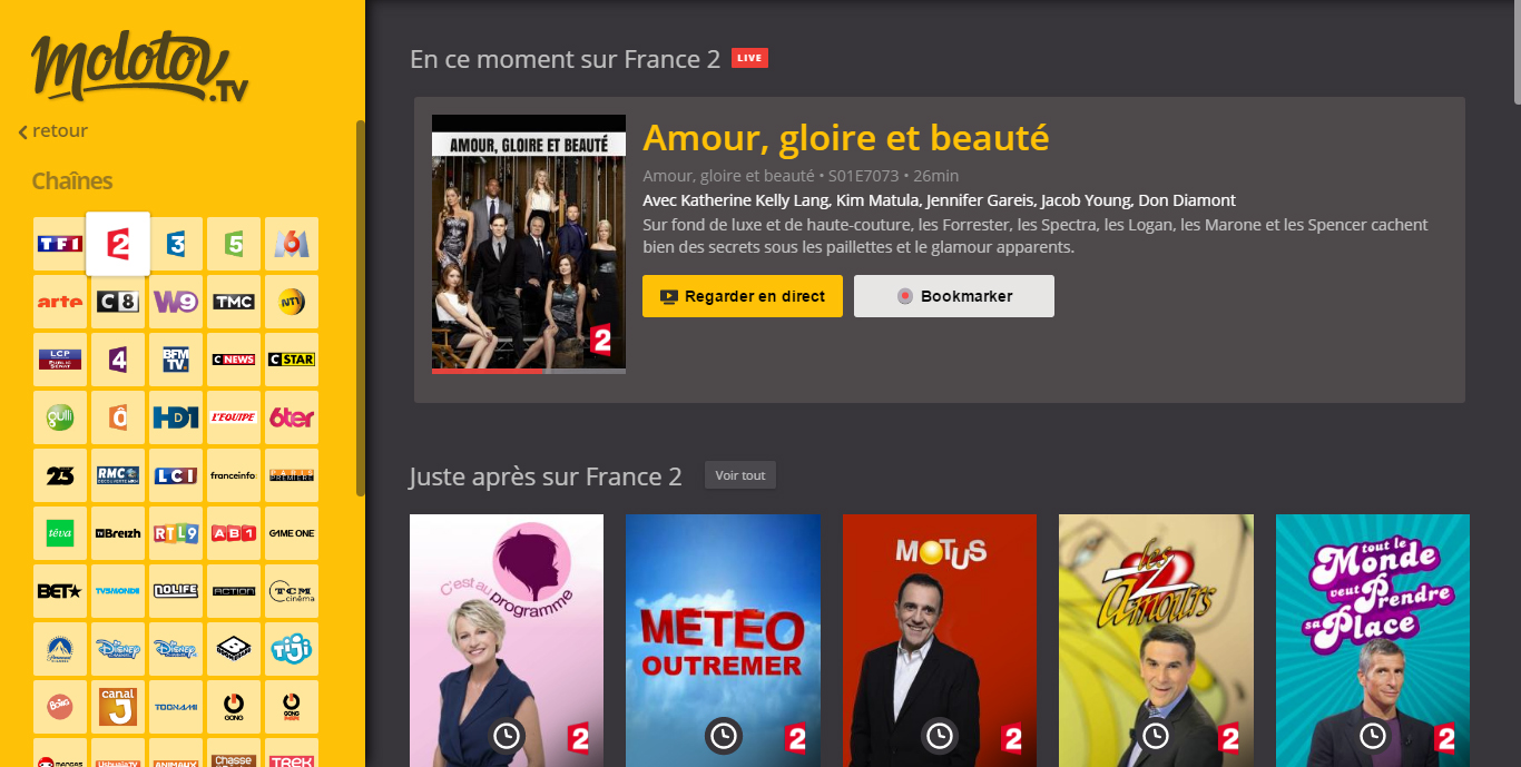 regarder france 2 en direct hd france 2 direct et replay pluzz tv. Black Bedroom Furniture Sets. Home Design Ideas