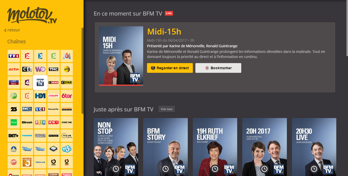 regarder bfm tv en direct gratuitement. Black Bedroom Furniture Sets. Home Design Ideas
