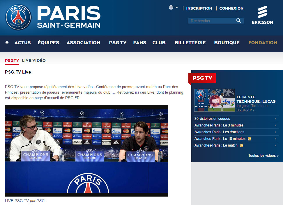 PSG TV live