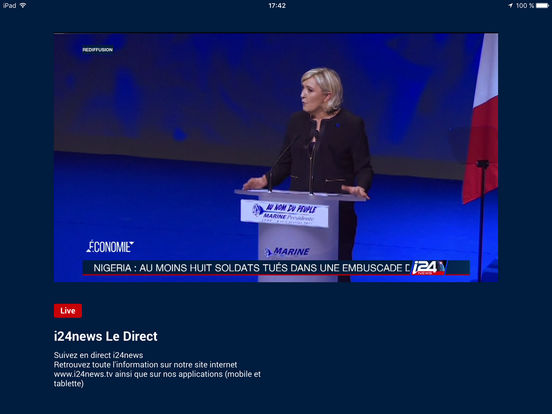 Live i24news sur mobile