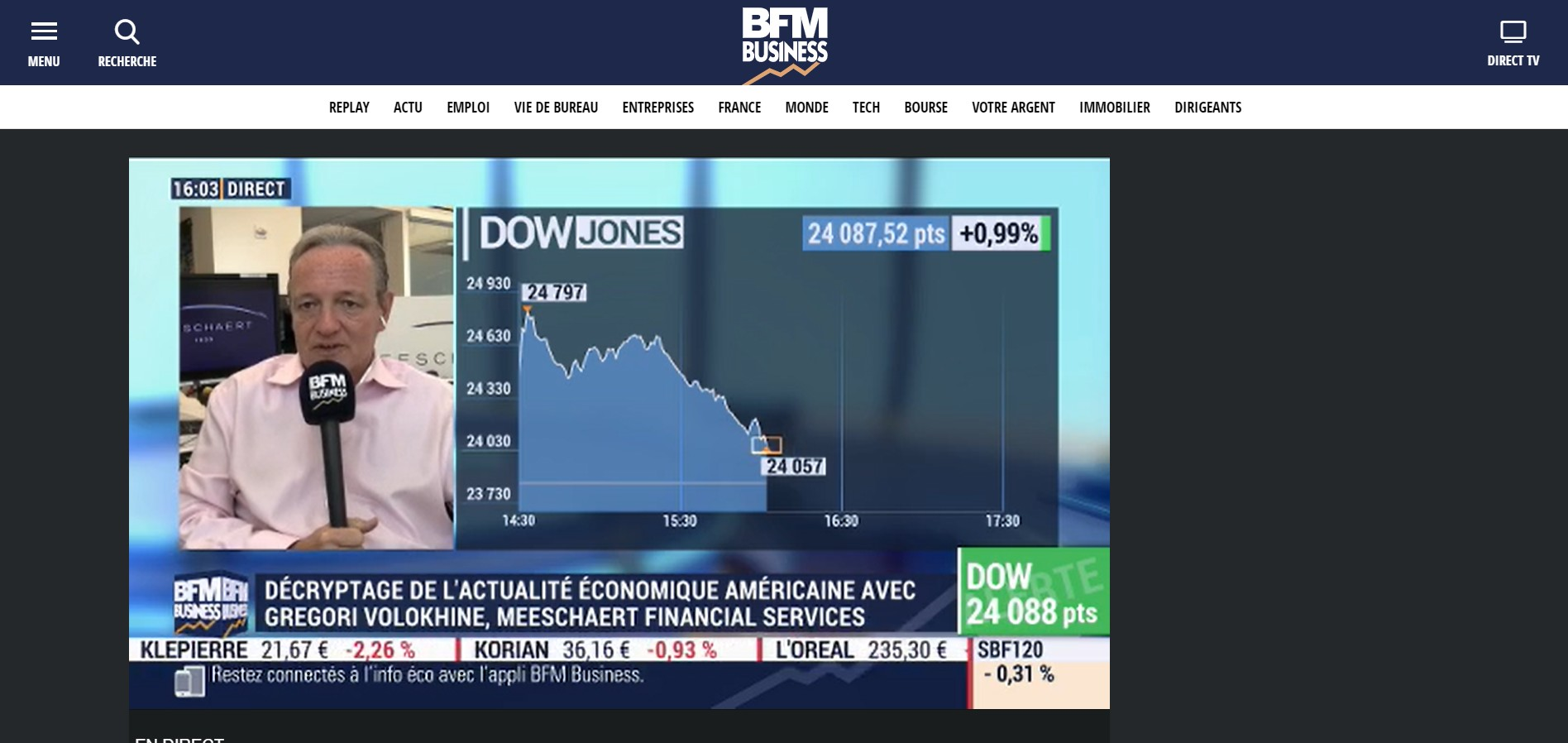 BFM Business live streaming